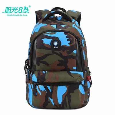 Primary students backpack  school bags camo kids school satchel teen boys girls school backpack book bag shoulder bag X026