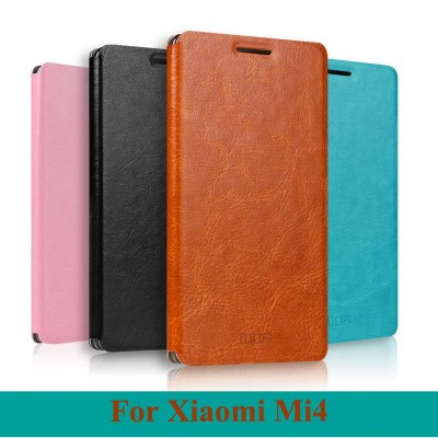 For Xiaomi Mi4 Case Mofi PU Leather Flip Case With Stand For Xiaomi Mi4 Phone Bag Case
