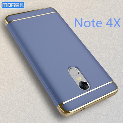 Redmi note 4X case back cover luxury 3 in 1 xiaomi redmi note 4x cover MOFi original capa coque funda note4x blue accessories