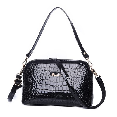 2017 Fashion Lady Crocodile Shell Bag Light Color Patent Leather Handbag Women Shoulder Bag Girl Fresh Crossbody Bag BT0000612