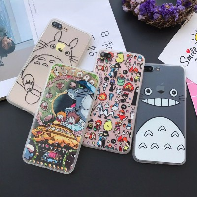 cartoon phone cases Hot Japan Cartoon Totoro Phone Cases Fundas Coque for iPhone 6S 6 7 Plus SE 5 5S Caso Shell Animals King Lion Hard Cover  cartoon cases