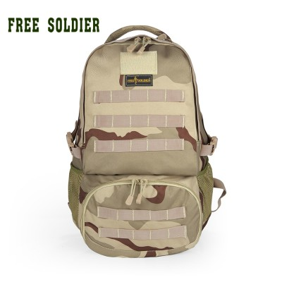 FREE SOLDIER Outdoor sports hiking camping travel tactical backpack 100% nylon Men's backpack 30l double-shoulders bags
