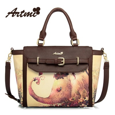 Artmi new tide restoring ancient ways is the elephant fashionable beauty lovely printed hand one shoulder with his female bag