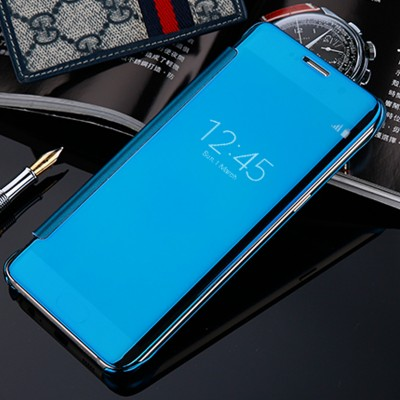 Luxury Mirror Clear View Smart Flip Case For Samsung Galaxy S7 S7 Edge Leather Cover For Samsung C5 C7 Phone Case