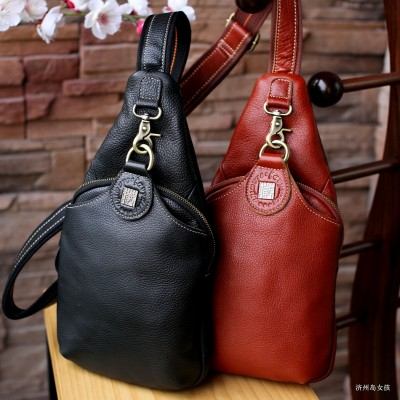 Womens Leather Vintage Chest Packs