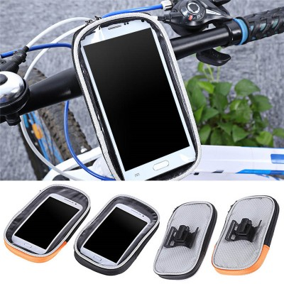 "5.5"" Waterproof Bicycle Handlebar Cell Phone Case GPS Mount Cycling Bags for iPhone 6 6s 7 7plus"