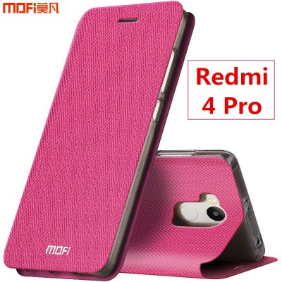 Xiaomi redmi 4 pro case cover flip case Xiaomi Mi Redmi 4 pro prime cover MOFi original leather case wheat lines cover stand 5""