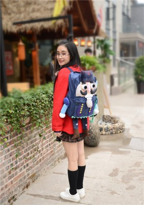 Nutcracker Solider British Creative funny personality Backpacks Handmade Canvas Backpacks