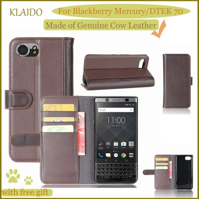 Blackberry Keyone Case Genuine Cow Leather Mobile Phone Case For Blackberry Mercury Case Blackberry Keyone Genuine Leather Case DTEK 70 Case