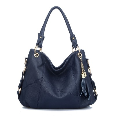 2017 Fashion Women Bag Korean Handbags Fringed Shoulder Diagonal Portable Leather Stitching Shoulder Large Bags Handbags Women