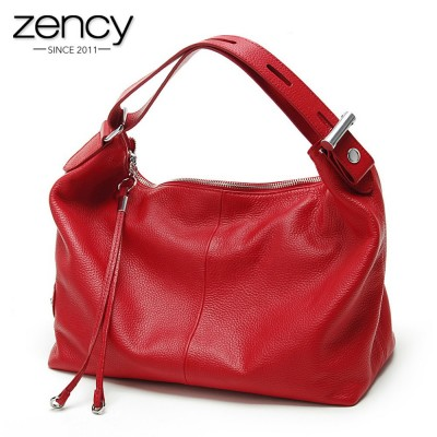 Fashion 100% Real Genuine Leather OL Style Women Handbag Tote Bag Ladies Shoulder Bags