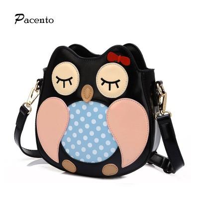 New Fashion Women Leather Handbags Cartoon Messenger Bags Owl Bag Printed Leather Shoulder Crossbody Handbag Bolsa Mujer
