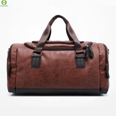 New Genuine leather travel bag Men duffel bag large capacity bags with shoulder Strap shoulder bag leahter Handbag for Male