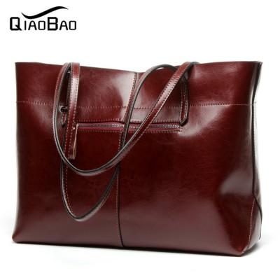 Wholesale Women Messenger Bags Designer Genuine Leather Handbag Brand Cowhide Large Tote Bag