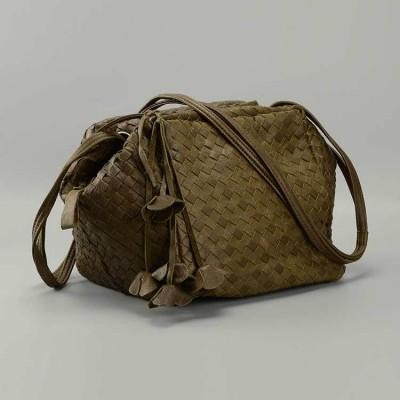2017 Luxury Handbags Women Bags Designer High Quality Fashion Genuine Real Leather Shoulder knitting Bag Female Hobos Sac A Main
