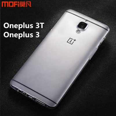 Oneplus 3T case cover oneplus 3 case MOFi original OnePlus A3010 A3000 TPU soft back case transparent ultra thin capa coque 5.5""