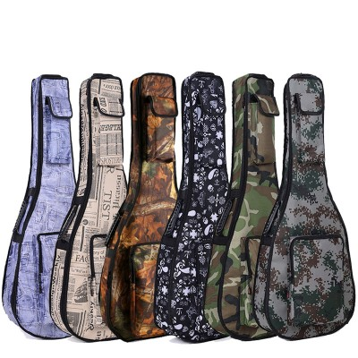 Guitar folk acoustic guitar package thick waterproof camouflage shoulder bag ukulele musical instrument