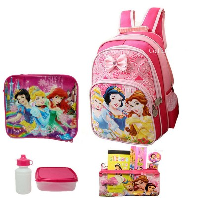 1 set 12.9 inch Princess Children school bags cute cartoon school backpack for girls Feminina mochila escolar kids backpack