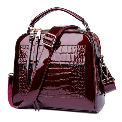 Hot Shell bag Women Autumn And Winter Handbag Fashion Simple Handbags Leather Bag Patent Leather  Woman Shell Bags 50ZD