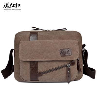 2017 New Men's Fashion Business Travel Shoulder Bags Men Messenger Bags Canvas Briefcase Men Bag
