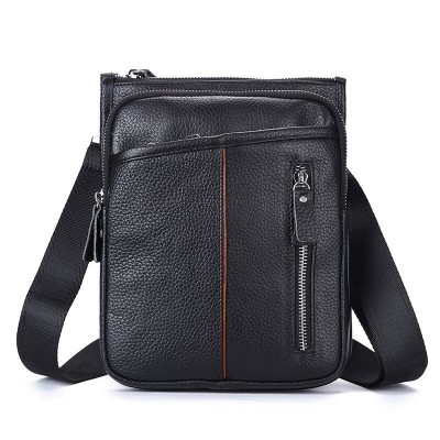 2017 New men's business casual bag100% Natural Genuine leather handbags for men High quality the First Layer cow skin messenger