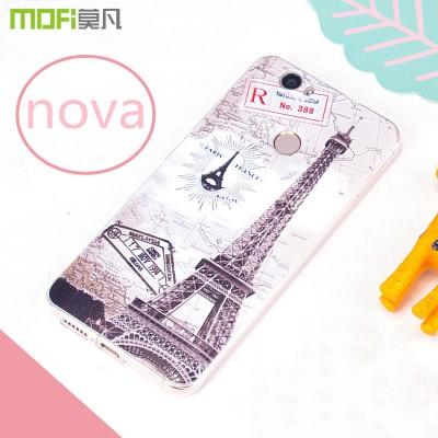 MOFi Case for Huawei nova case cover MOFi original huawei nova cover back case TPU soft 3D relief pattern cartoon bohemian flower capa coque