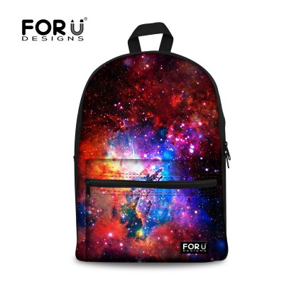FORUDESIGNS Hot Children Galaxy School Bags For Teenagers Boys Girls Women Men Canvas Backpacks Students Kids Book Bag Mochila