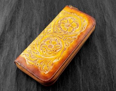 Luxury Handmade Genuine Leather Bifold Biker Men's Womens Wallet Checkbook Purse
