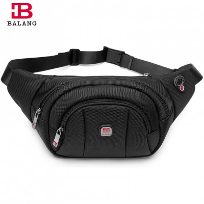 Leather Fanny Pack Men Male Casual Waist Pack Functional Fanny Waist Bag Money Phone Belt Shoulder Bag for Men Boys Black