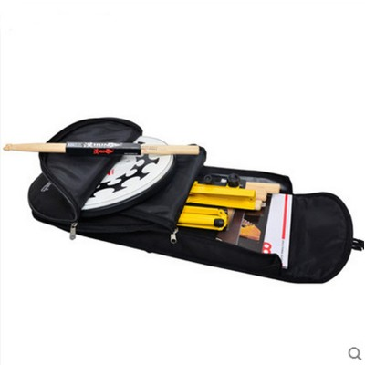 Portable multifunction music dumb pad bag score stand package snare drum rack soft cover textbooks connection cable backpack