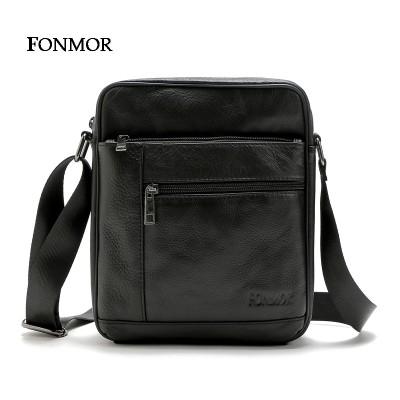 Fonmor 2017 New Men's bags Cowhide Leather Shoulder Bag Multiple Zipper Leisure Bag Man Cross body Travel bags