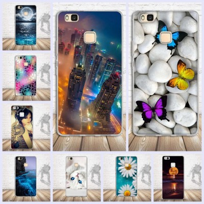 Case For Huawei P9 lite Case Silicon Cartoon Skull Black Frame Cover For Fundas Huawei P9 lite G9 Lite 5.2 inch Case
