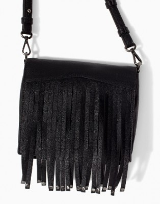 AB807 Punk MYSTERIOUS GOTHIC solid Black Tassels Rivets PU women sling bag Messenger Bags Cross Body New 2014 0.25