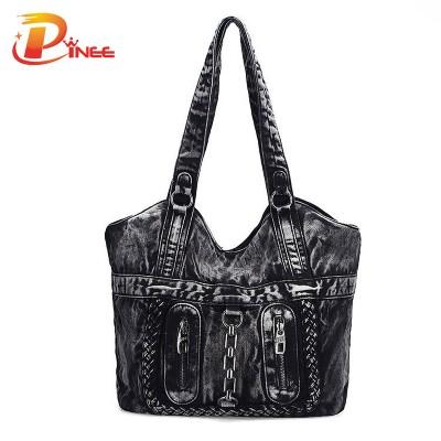 Vintage Denim Shoulder Handbags 2017 Large Luxury Handbags Women Bag Designer Ladies Hand bags Big Purses Jean Tote Denim Shoulder Crossbody Women Messenger Bag