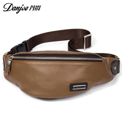 Genuine Leather Men's Waist packs natural leather Money bags for men Shoulder Bag Casual Men Small Waist Pack