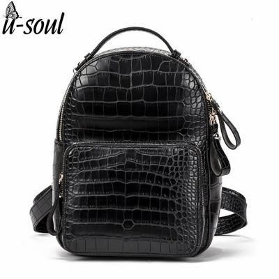 Women Backpack Leather Fashion PU Leather Travel Backpack Female School Bag Mini Backpacks For Girls A26