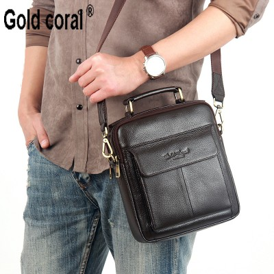 Hot sale New messenger bags for men High quality Natural genuine leather handbags business casual shoulder Bags 2017 new fashion