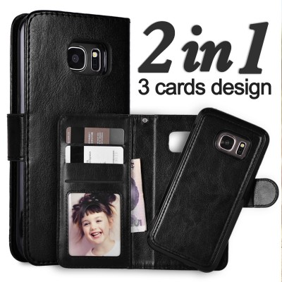 Phone Case for S7 Edge Removable Leather Phone Cases For Samsung Galaxy S7 Edge Case Wallet For Samsung S8 Cover S8 Plus S7 S6 Edge