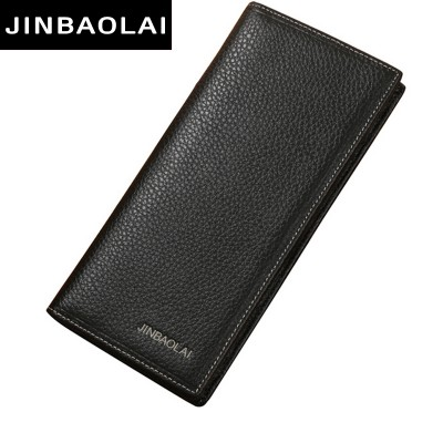Brand Men Wallet Genuine Leather Long clutch wallets for men Cowhide Bifold Purse Slim Fashion Male Wallets