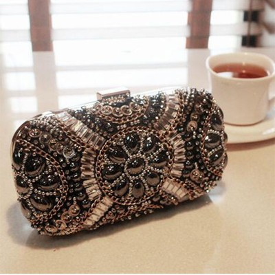New LUXURY GEM Diamond Flower Crystal Evening Bag Clutch Bags Hot Styling Day Clutches Lady Wedding Purse Bolsa De Festa 695t
