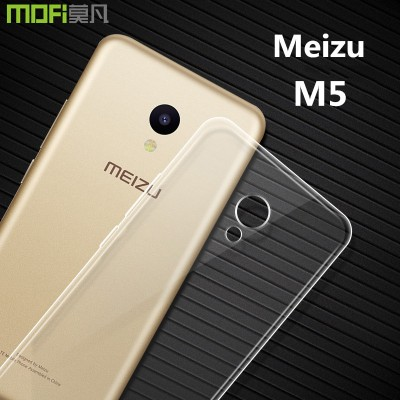 Meizu m5 case meizu m5 cover m5 prime cover MOFi original TPT soft back cover transparent clear accessories capa coque funda 5.2