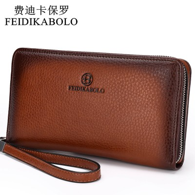 Luxury Male Leather Purse Mens Clutch Wallets Handy Bags Business Wallets Men Black Brown Wallets for men