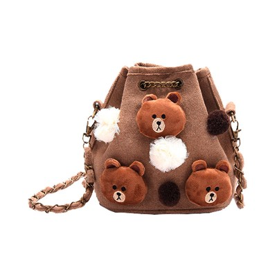 Women Bag Leather Handbag Fashion Vintage Tote Bag Lady's Lovely rabbit Duck Bear Bag Holiday Travel Single Shoulder Bag 2017