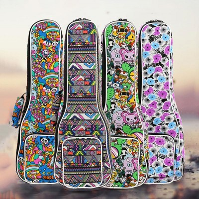 High Quality 21 inch soprano concert Padded Ukulele Bags Ukulele Soft Gig Bags Small Guitar Cases