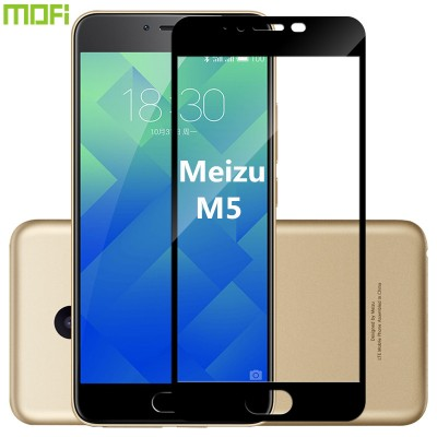 Meizu m5 glass meizu m5 tempered glass meizu m5 mini full cover glass HD glass screen protector meizu m5 accessories black 5.2""