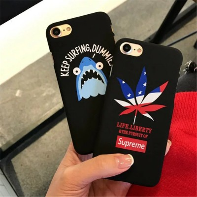 cartoon phone cases fashion supreme PC case for apple iphone 6s case Cartoon Plastic Shark Hard Shell For Apple iPhone 7 Plus Mobile Phone Cover cartoon cases