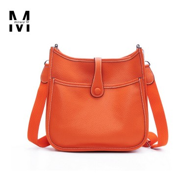H Women's Hollow Out Punch Messenger Bags Classic Famous Brand Designer Genuine Leather Handbags Female Casual Crossbody Bags