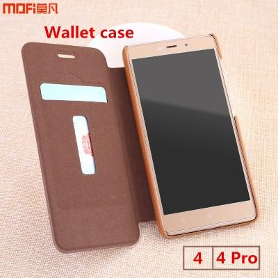 Xiaomi Redmi 4 pro case cover prime 16G wallet pouch card cover flip case MOFi original Xiaomi mi redmi 4 pro capa coque funda