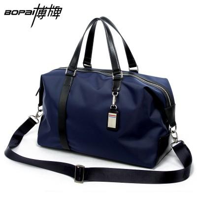 2017 Men Travel Bags Black Blue Men Tote Shoulder Travel Bag Portable Men Handbags Big Weekend Bag Women Waterproof Duffle Bag