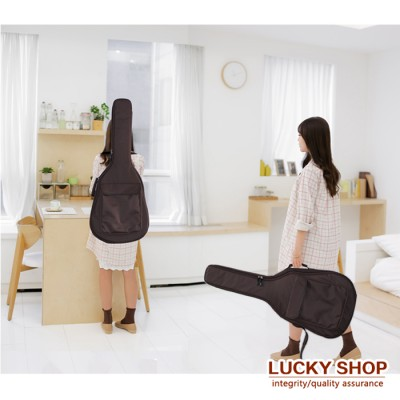 40 41 Acoustic Guitar Double Straps Padded Guitar Soft Case Gig Bag Backpack Hot Selling  inner clip 10MM thick sponge